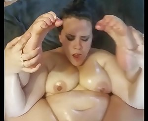 Horny Nicky has some fat tits