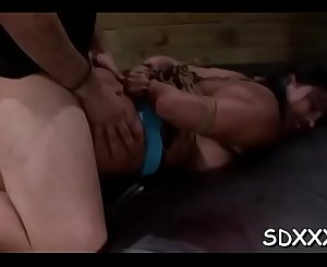 Chap enslaves big breasted doxy and shows her who's the manager
