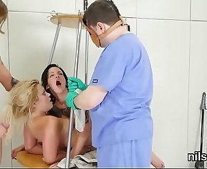 Wacky chick is brought in asshole assylum for uninhibited therapy