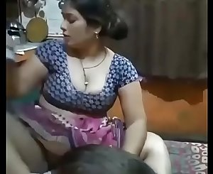 Desi Bhabhi legs broad open in front of her Son!!