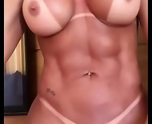 Big-titted Fit Woman with Big Clit