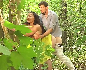 Dane Jones Oral pleasure and outdoor sex in a summer sundress and kitchen quickie