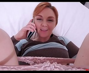 Mom fucks on while talking on the phone