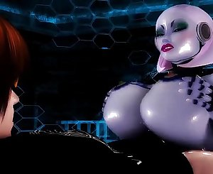 Guy FUCKS His Individual Robo Sluts Phat Ass & HUGE Tittys - Robot Porn