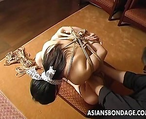 Craving Japanese lady gets tied up and gagged